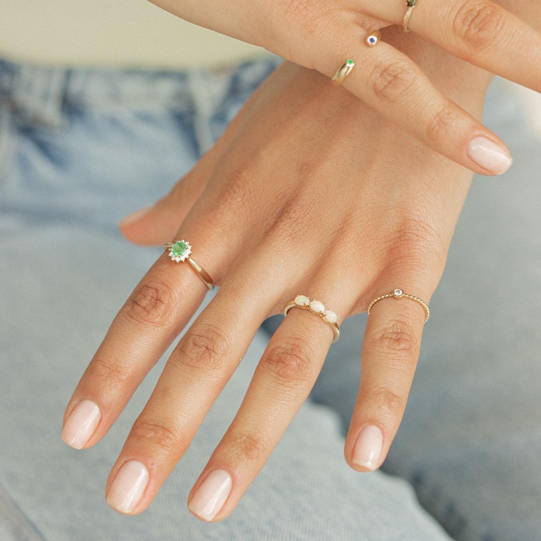 Wolf | 14K Emerald & Diamond