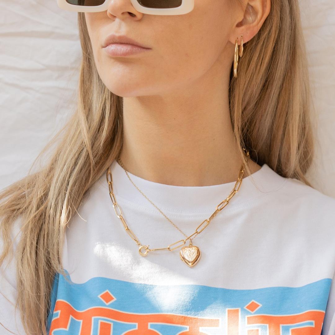 Alexia   18K Paperclip Necklace