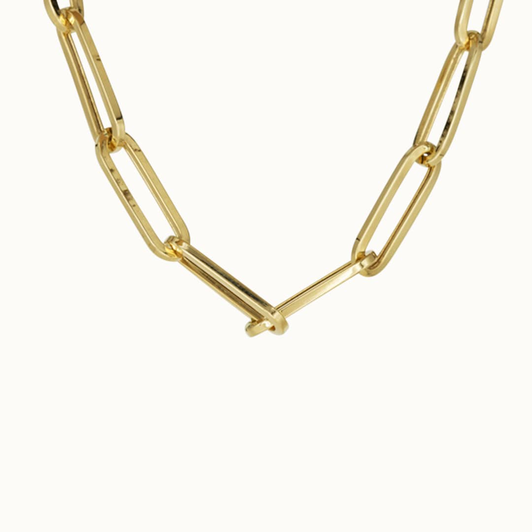 Alexia | 18K Paperclip Necklace