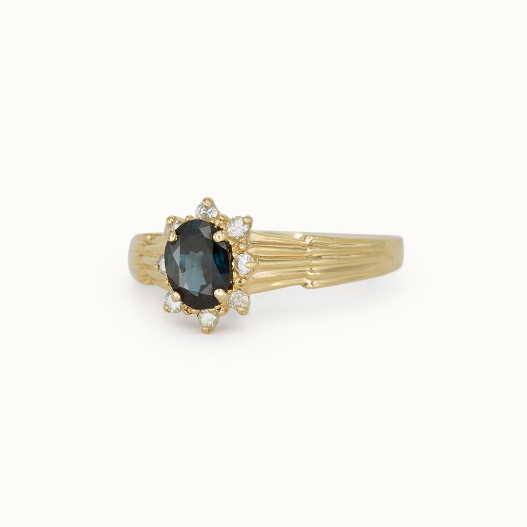 Paris   14K Sapphire & Diamond