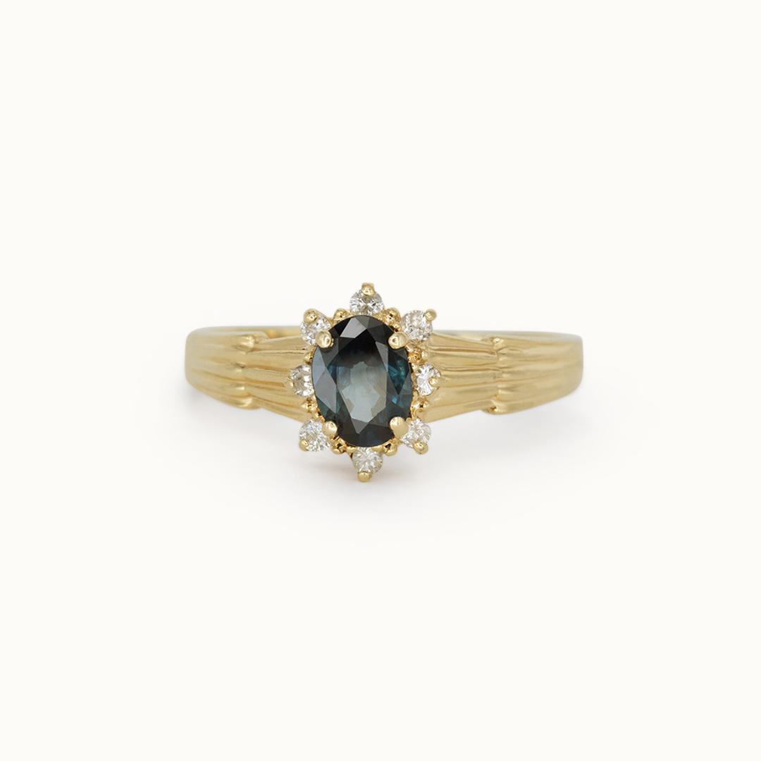 Paris | 14K Sapphire & Diamond