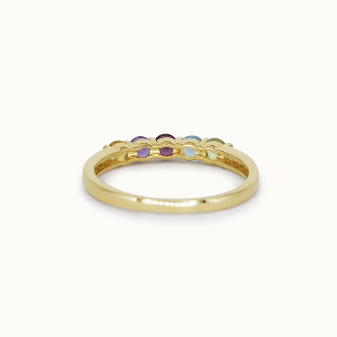 Rainbow | 14K Multiple Gemstone & Diamond
