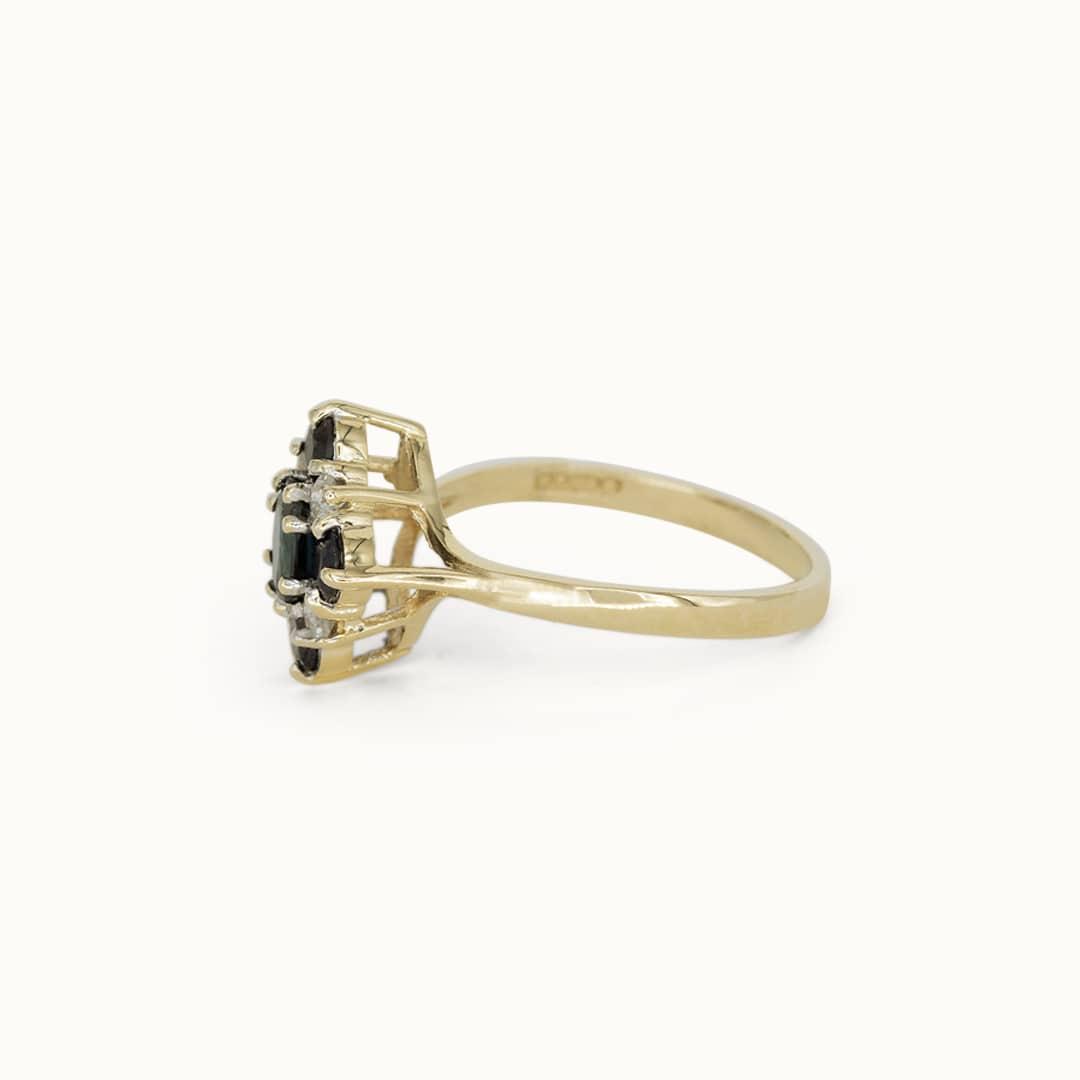 Shae | 9K Sapphire & Diamond