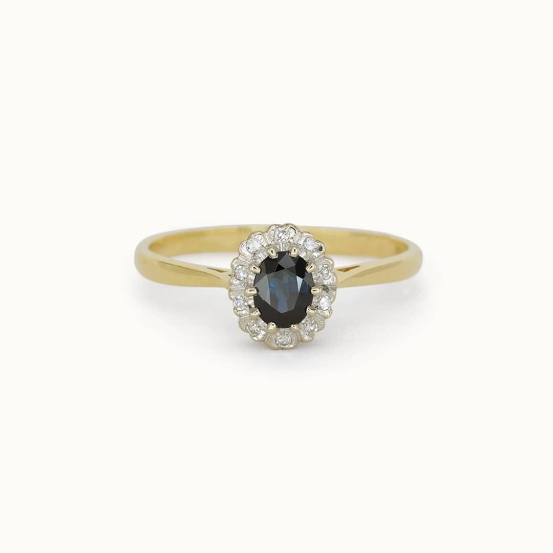 Elsa | 9K Sapphire & Diamond