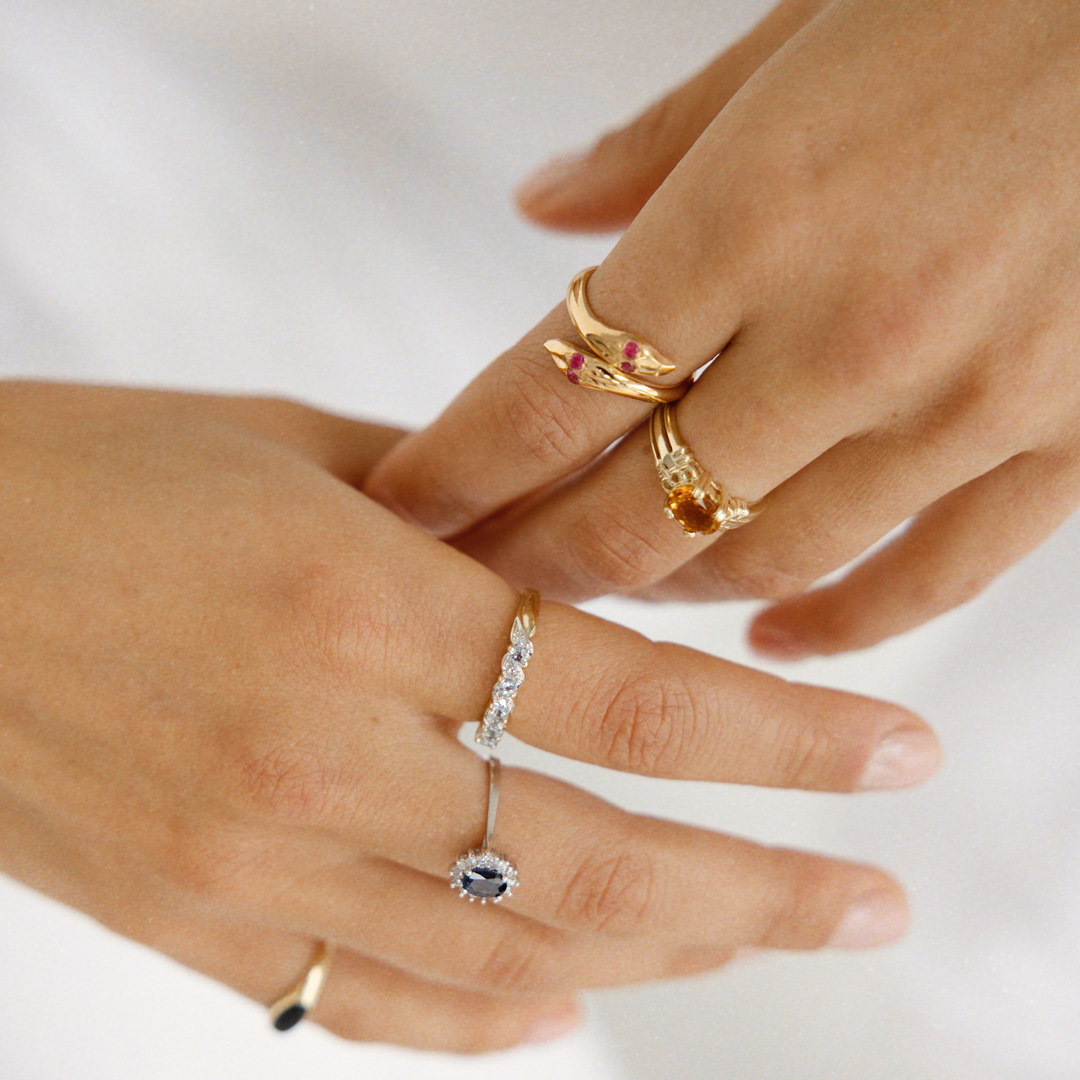 Hailey | 14K Sapphire & Diamond