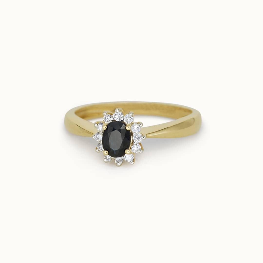 Luna   14K Sapphire & Diamond