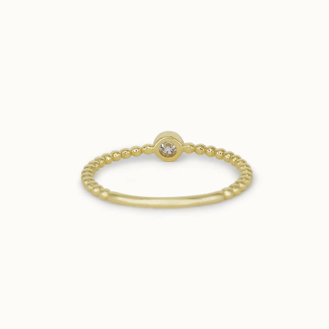 Viv | 14K Diamond Ball Ring