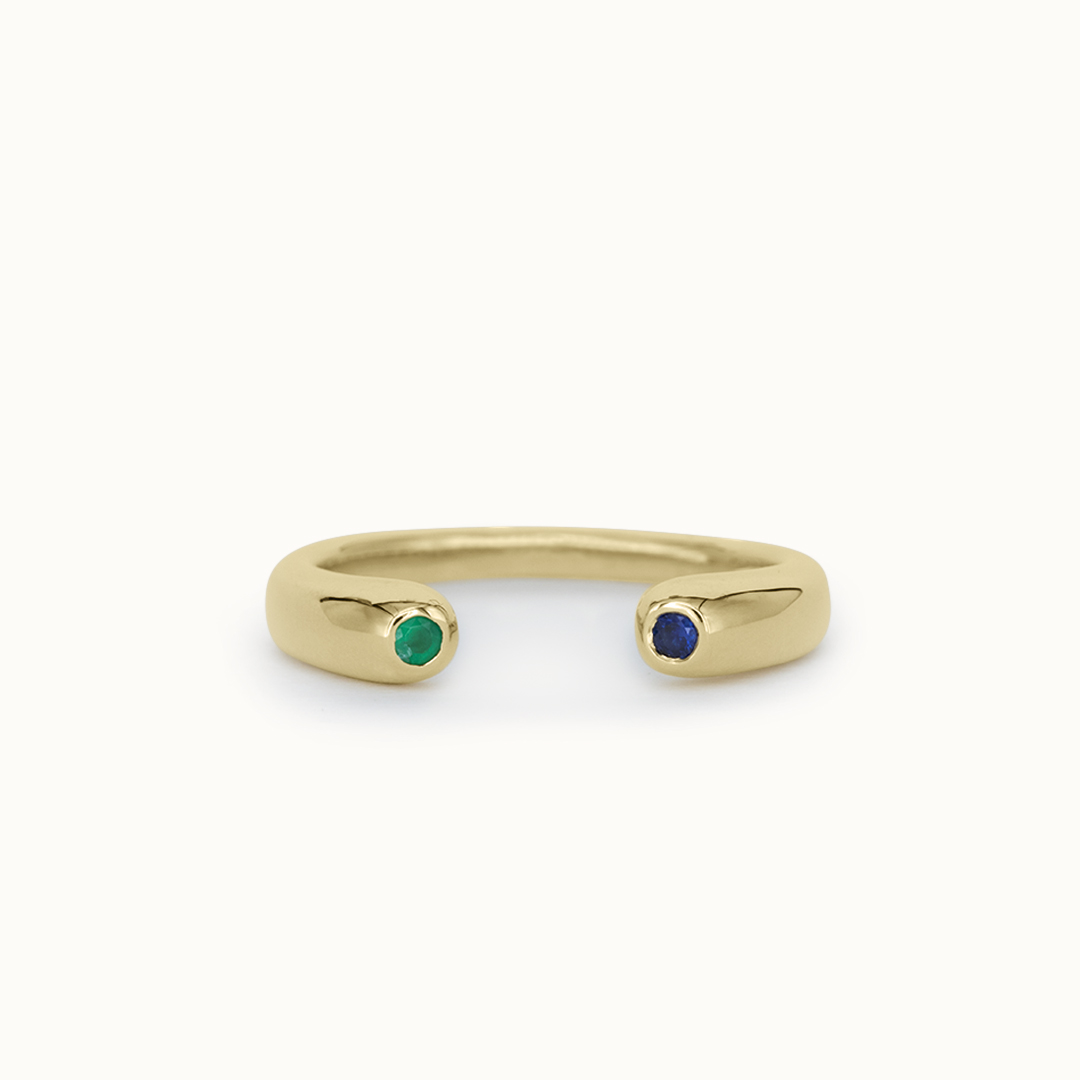 Olympia | 14K Emerald & Sapphire