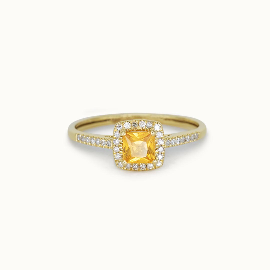 Spice | 14K Orange Garnet & Diamond