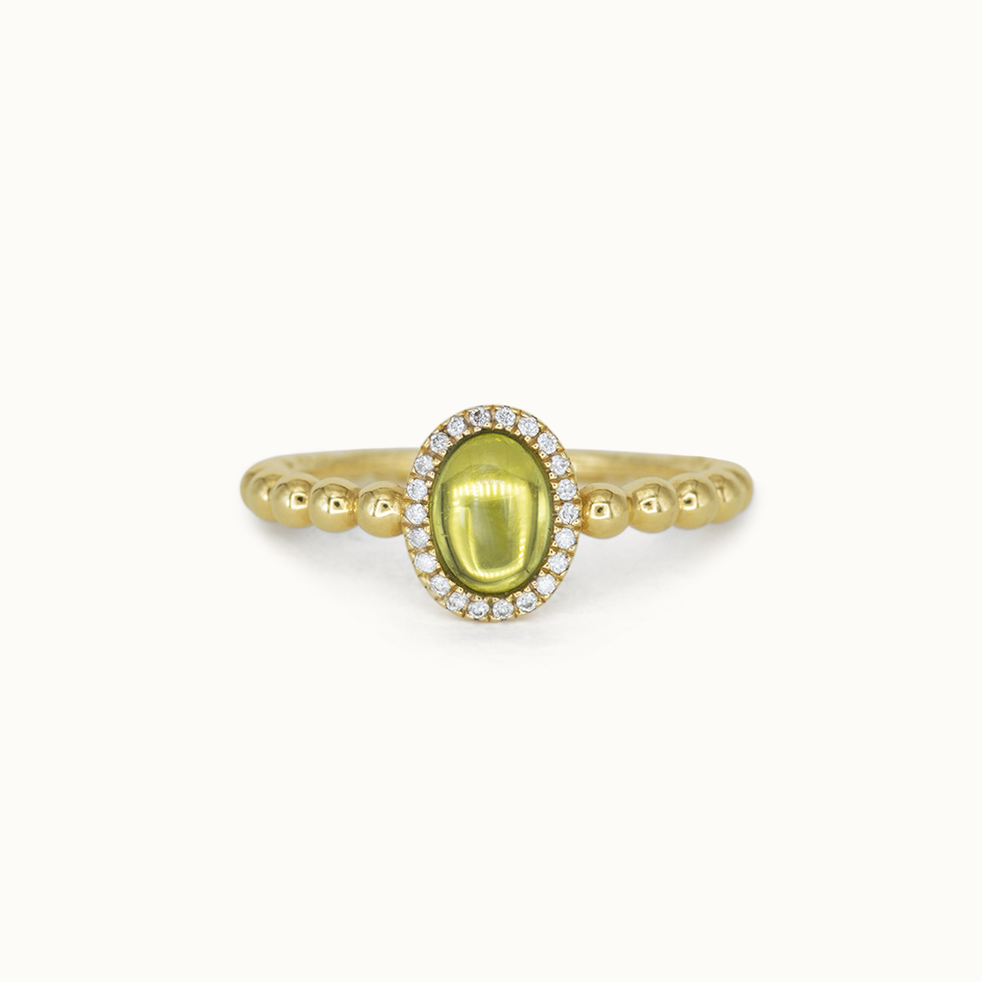 Elle | 14K Peridot & Diamond
