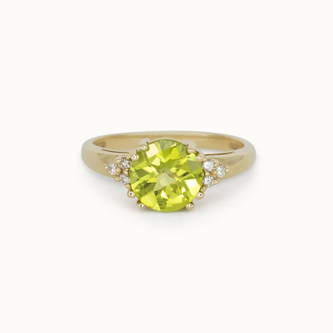 Liv | 14K Peridot & Diamond