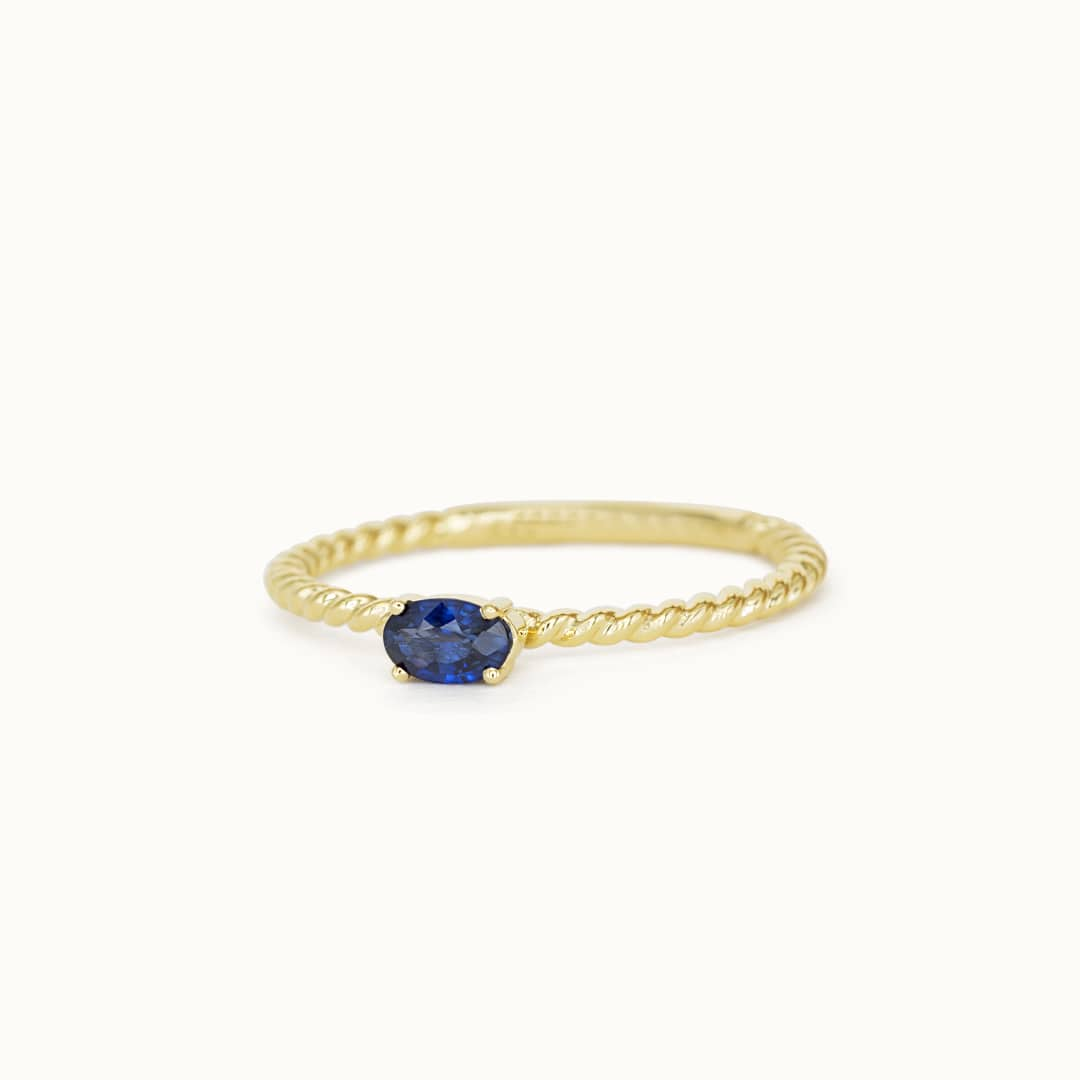 Louise | 14K Twisted Sapphire