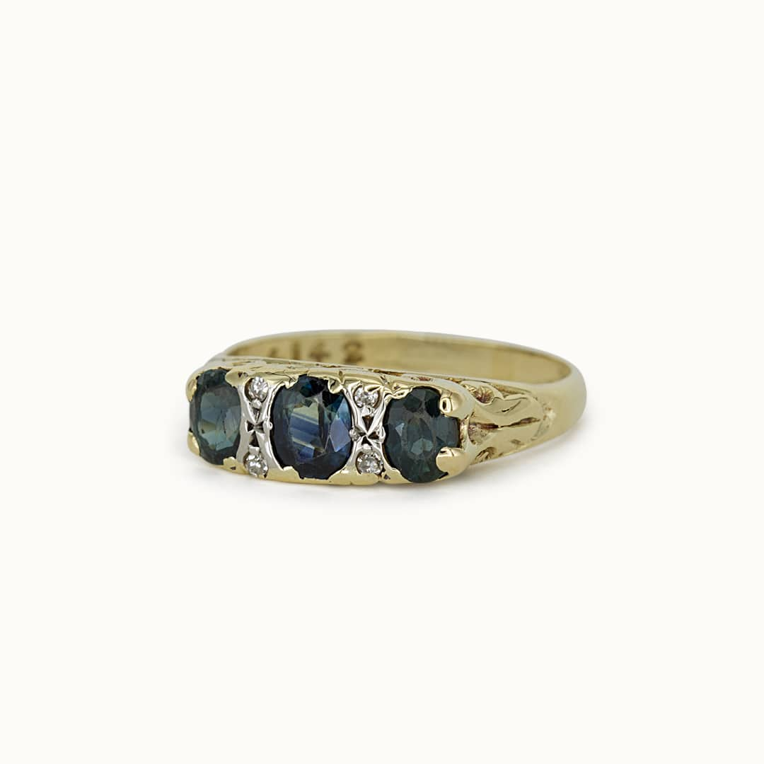 Posy   18K Sapphire & Diamond
