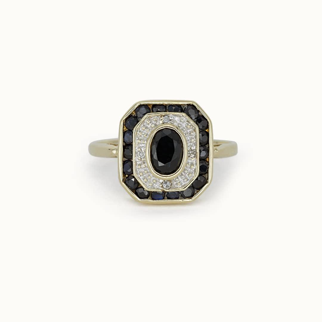 Leah   9K Sapphire & Diamond