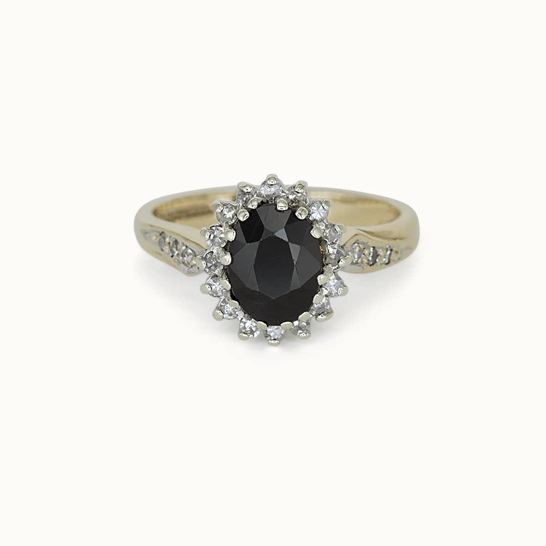 Ceci | 9K Sapphire & Diamond