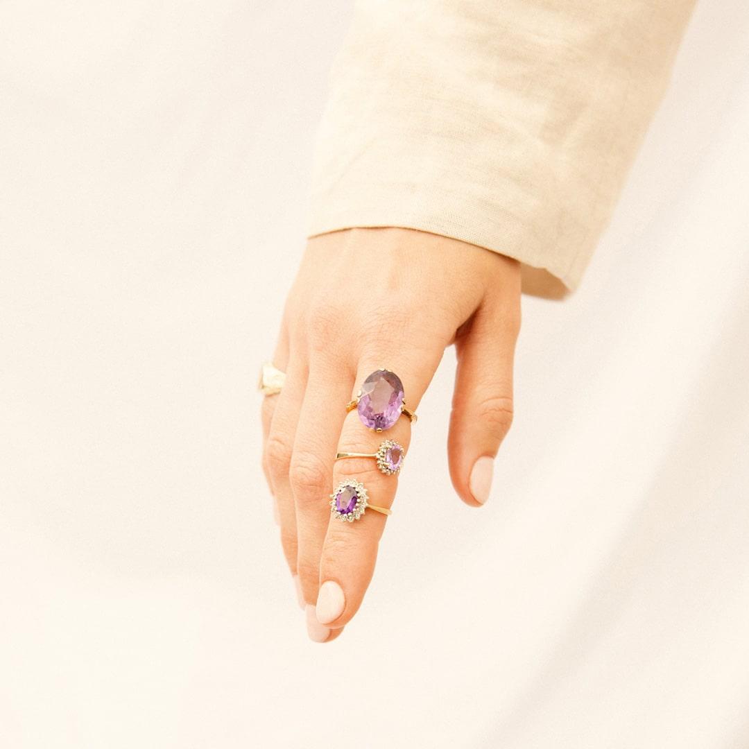 Willow | 9K Amethyst & Diamond