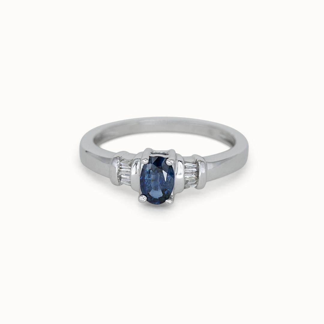 Kyra   10K Sapphire & Diamond