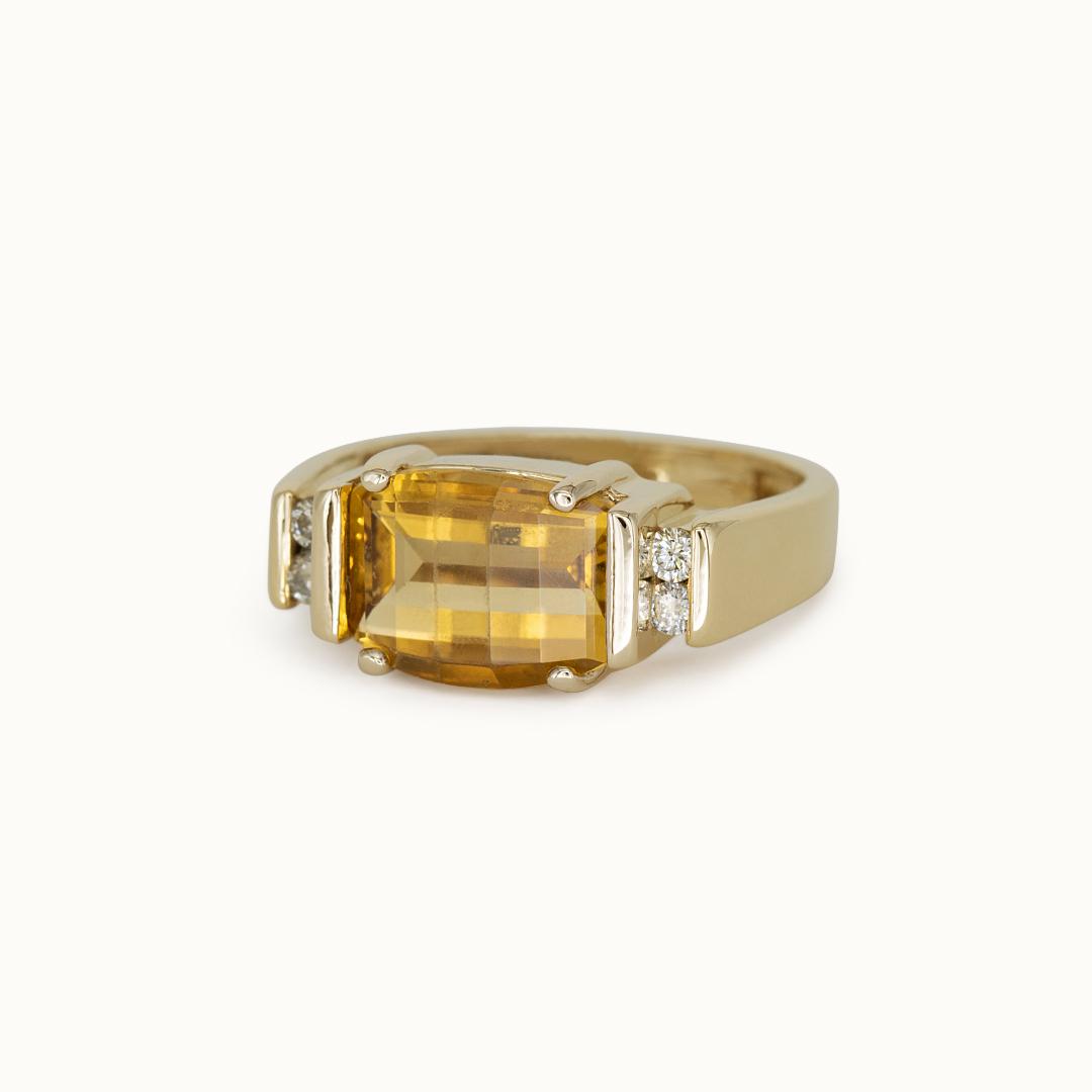 Yuli | 14K Citrine & Diamond