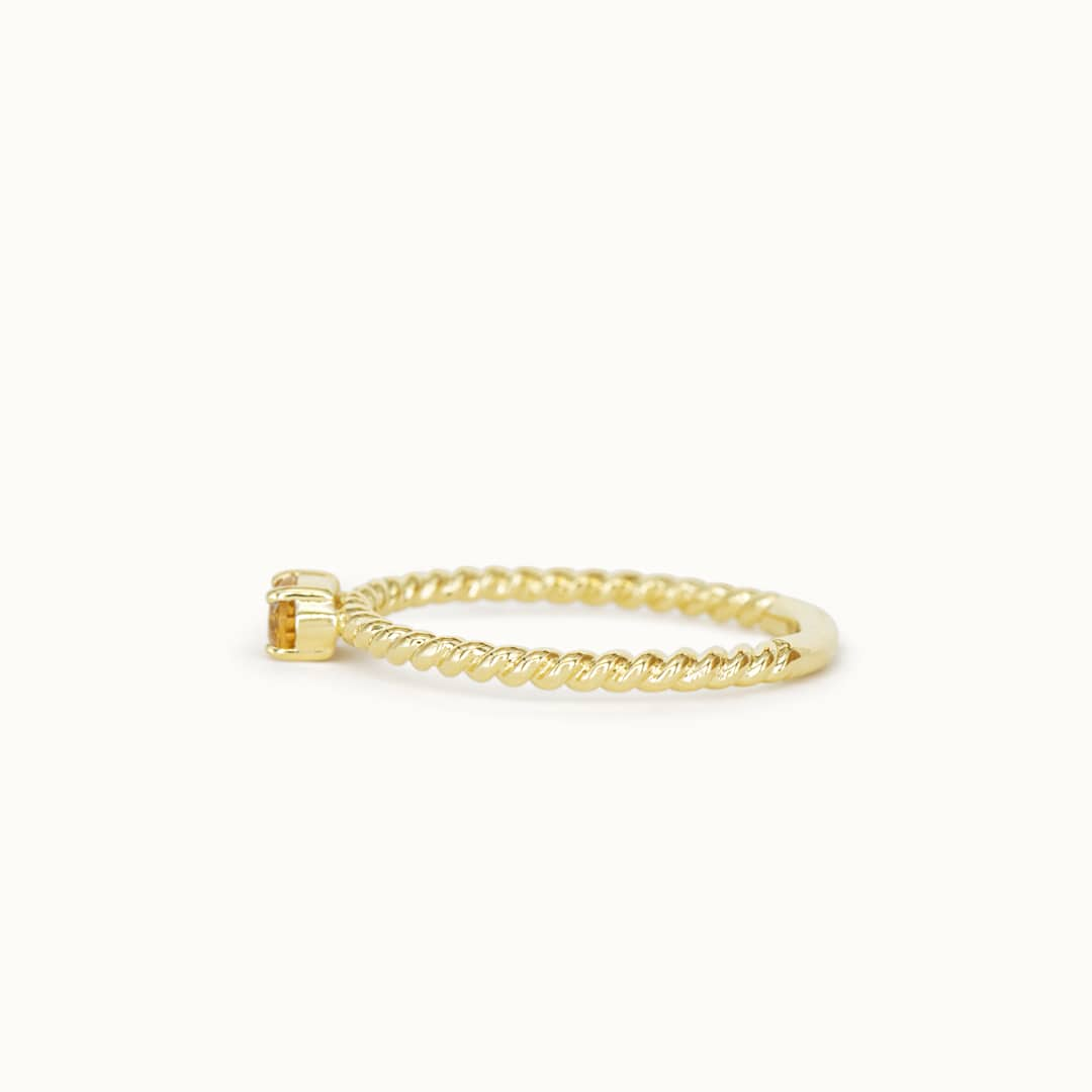 Louise | 14K Twisted Citrine