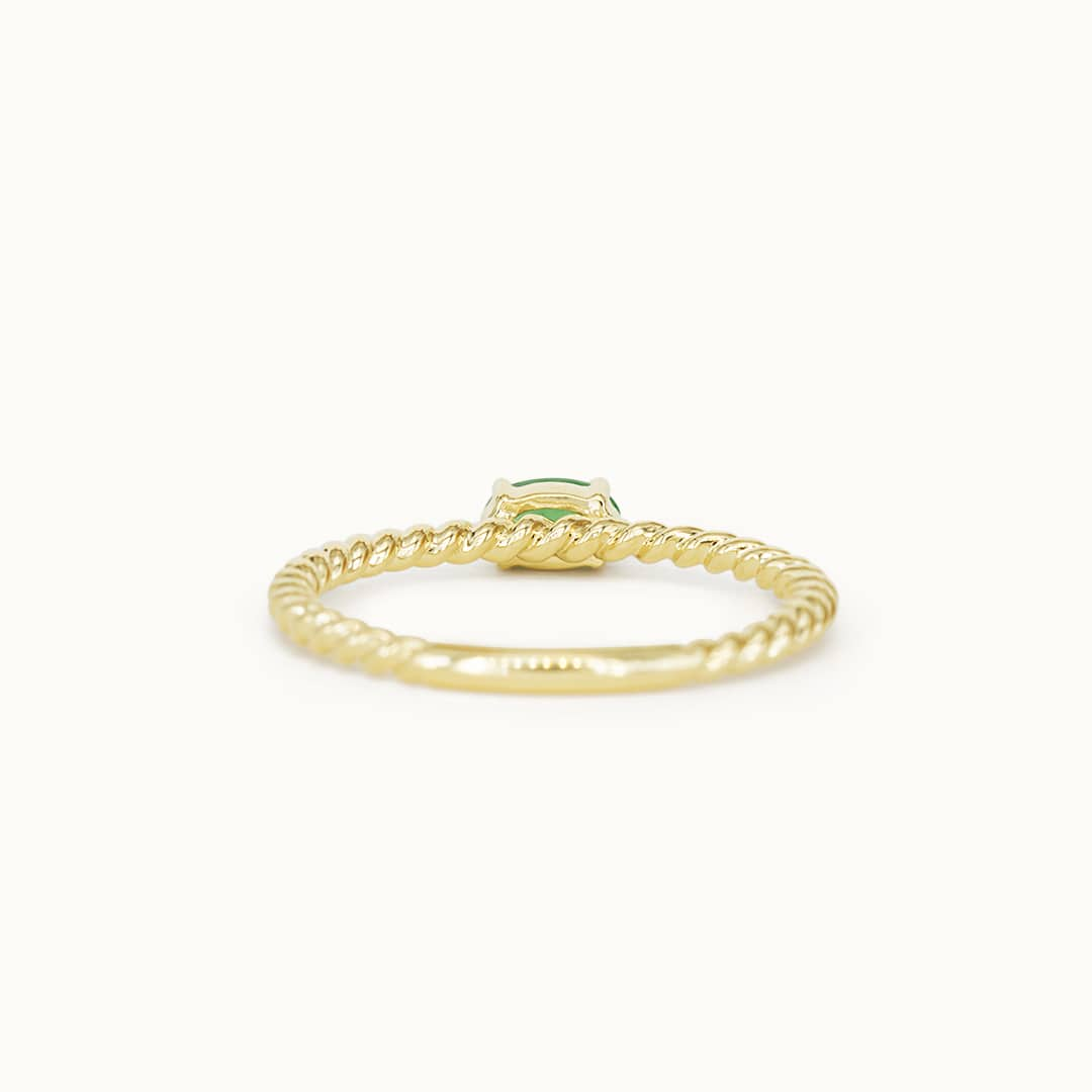 Louise   14K Twisted Emerald