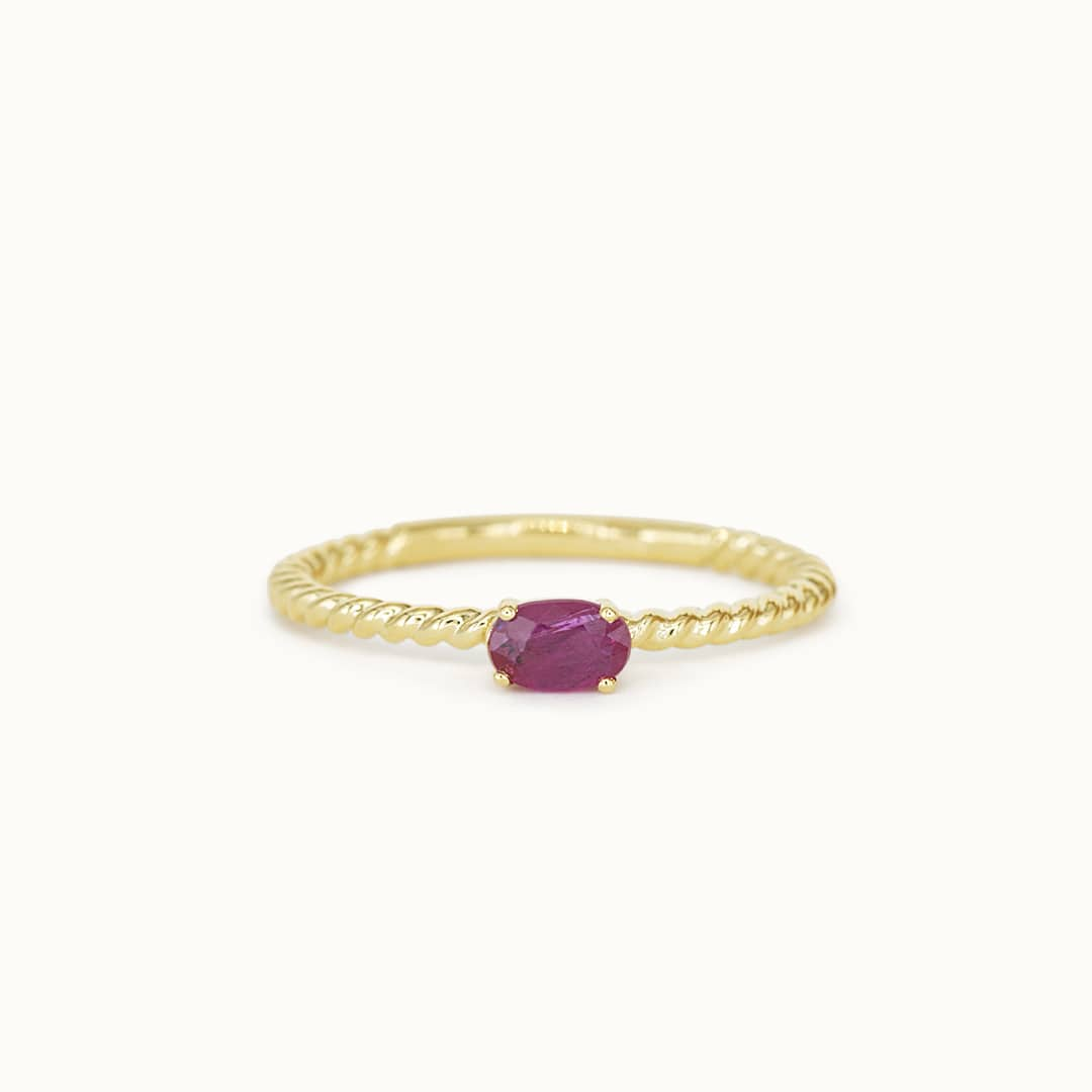 Louise   14K Twisted Ruby