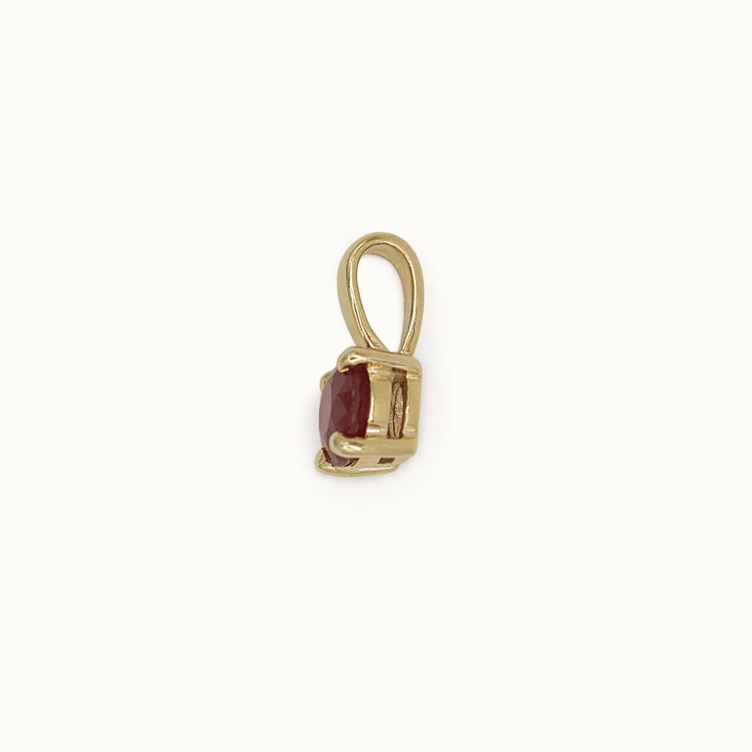 Flo | 9K Ruby Pendant & Chain