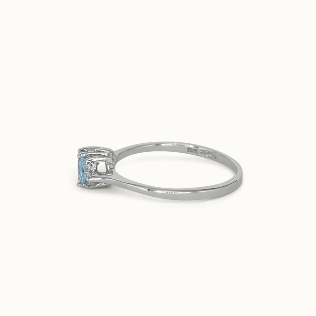 Caitlin | 10K Aquamarine