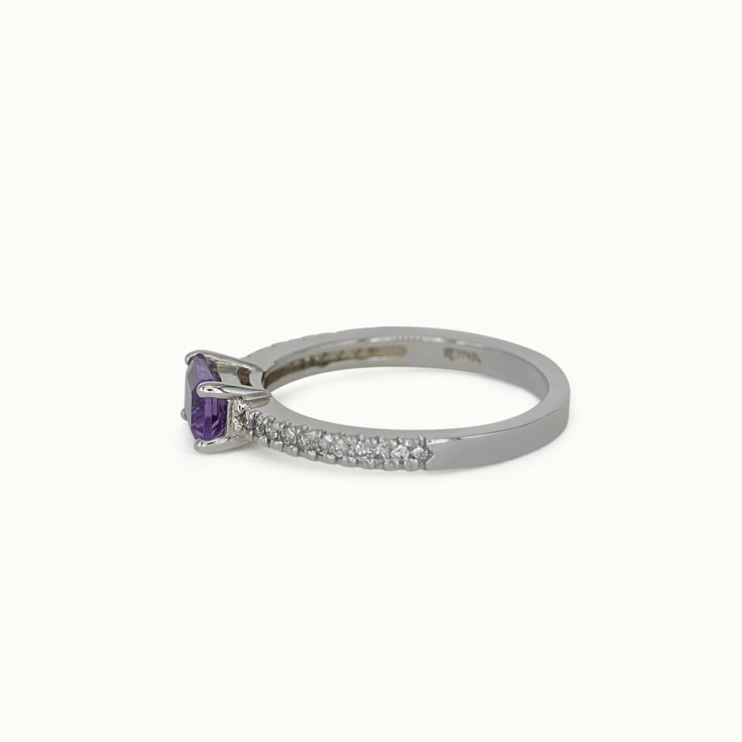Joye   14K Amethyst & Diamond