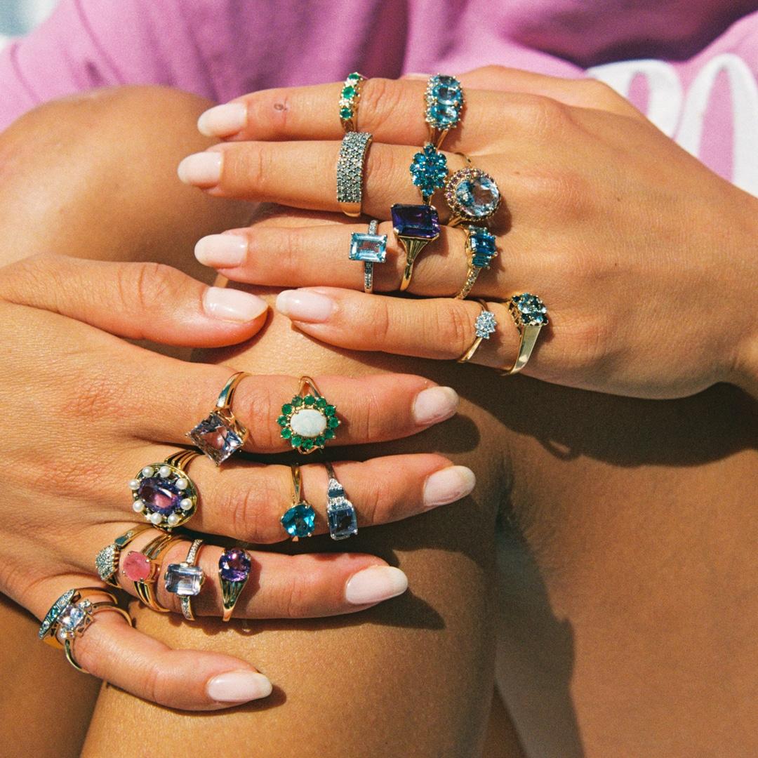 Sien | 9K Lolite & Diamond