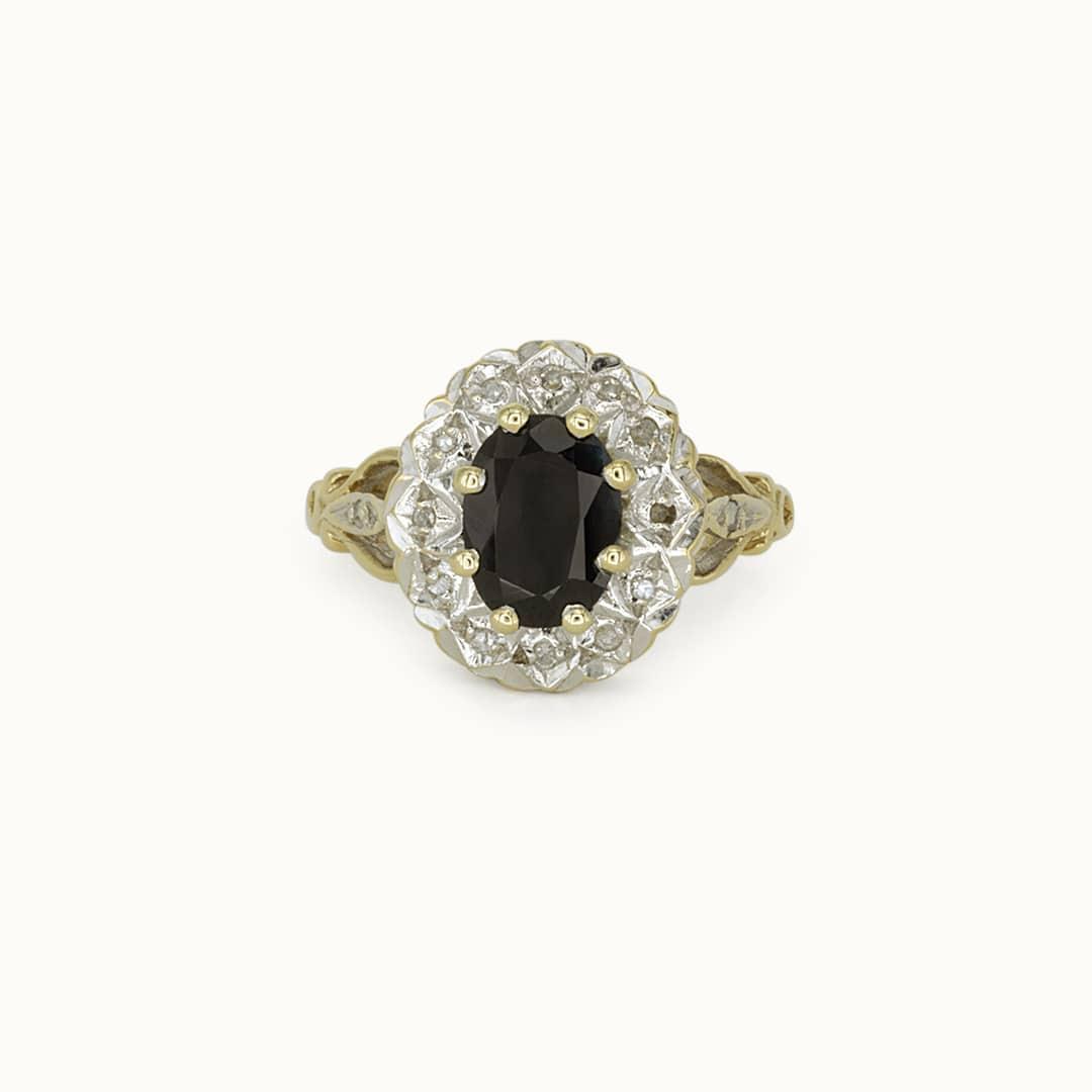 Lucie   9K Sapphire & Diamond