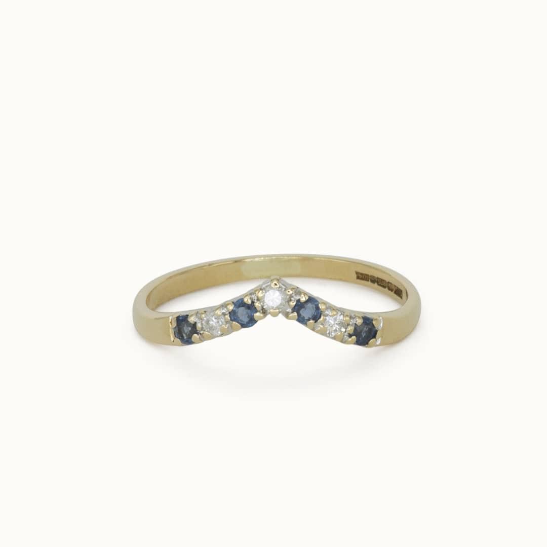 Harper | 9K Sapphire & Diamond