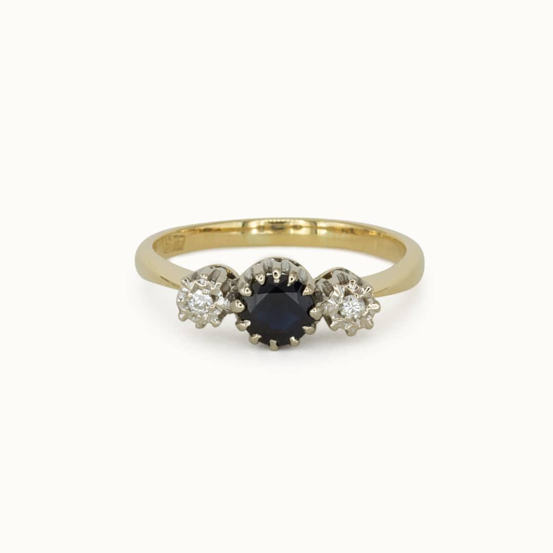 Selene | 9K Sapphire & Diamond