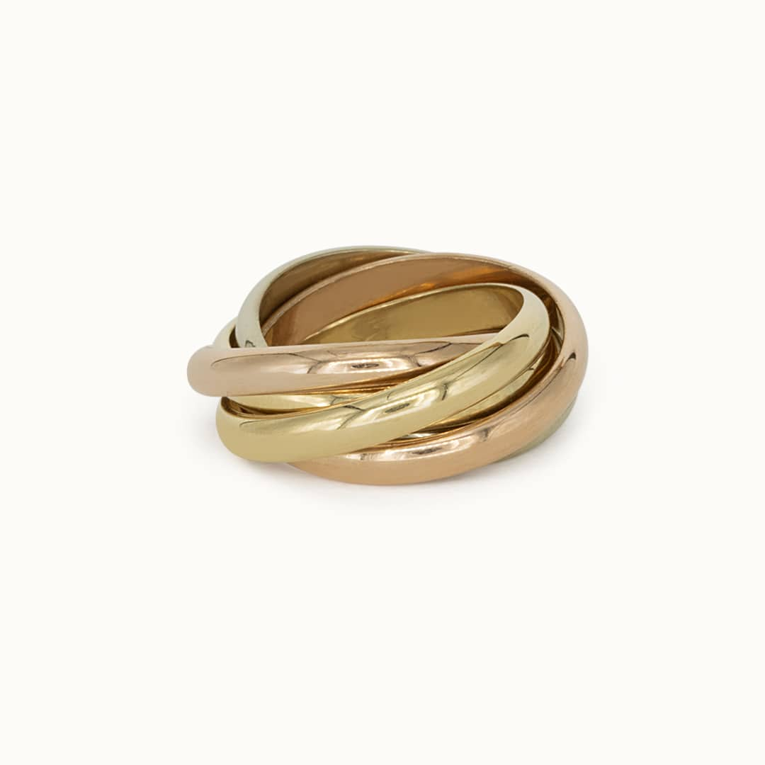 Giulia   14K Trinity ring