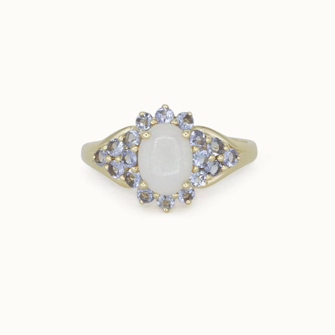 Florence | 10K Opal and Tanzanite