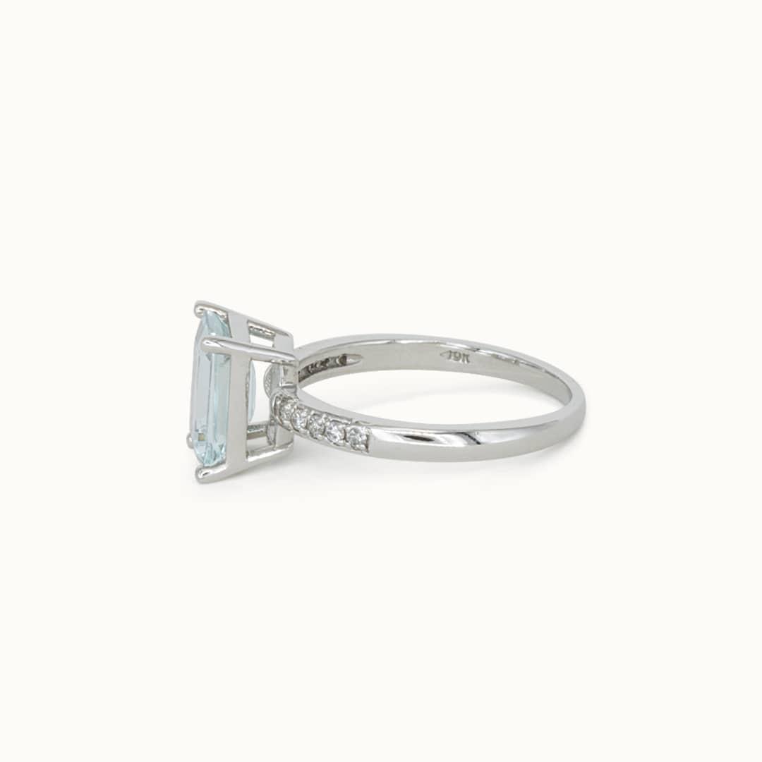 Maria   10K Aquamarine& Diamond