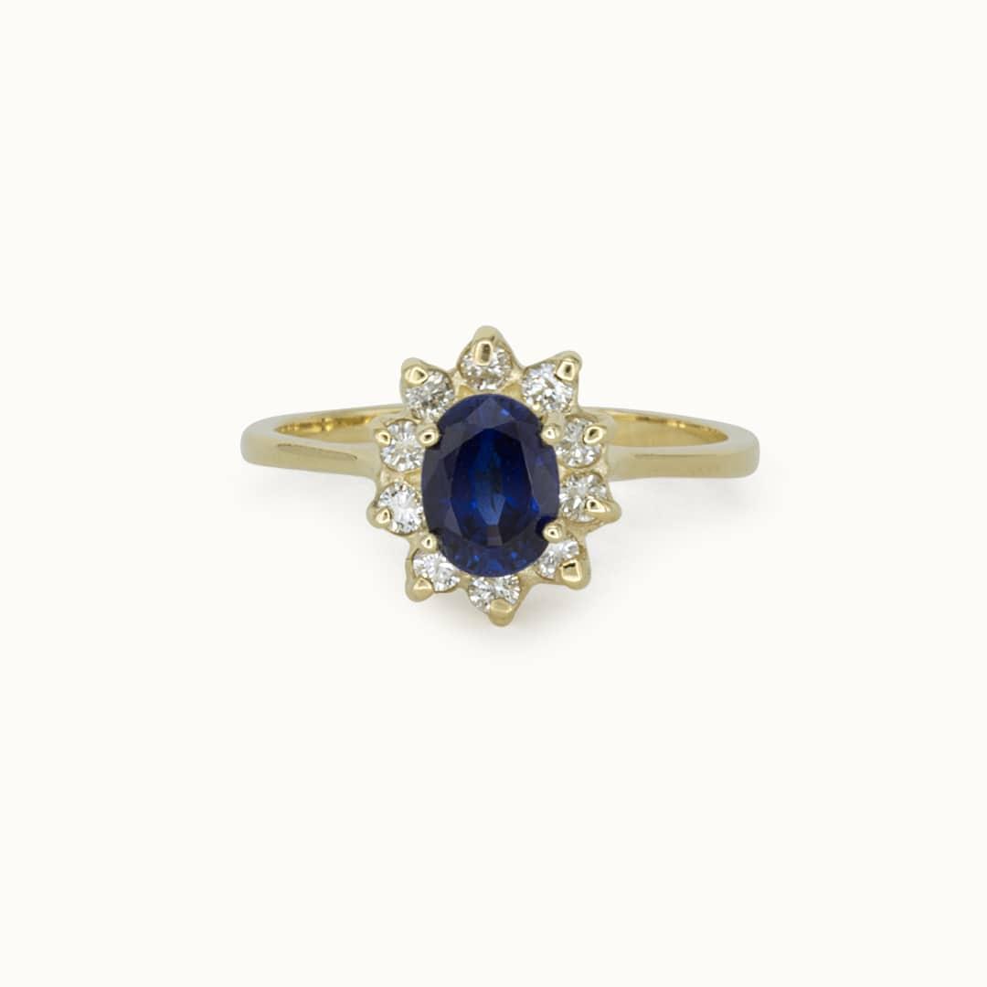 Belle   14K Sapphire & Diamond