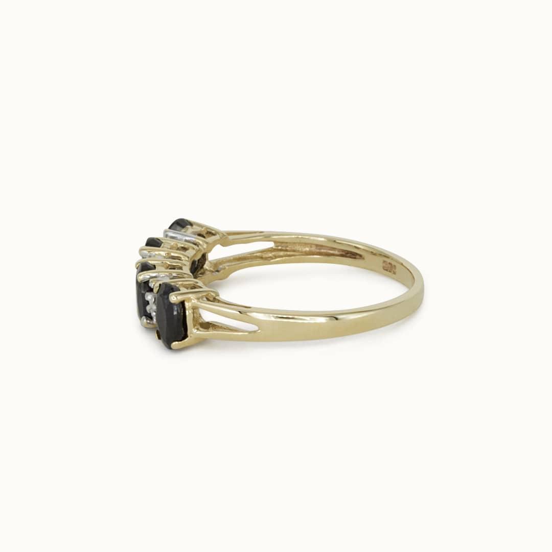 Jemma | 9K Sapphire & Diamond