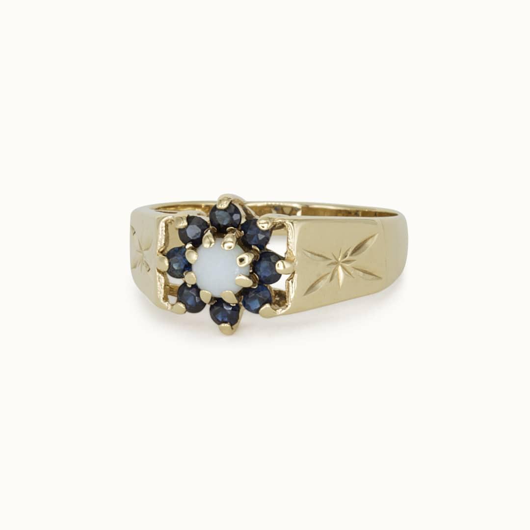 Lenni | 9K Sapphire & Opal
