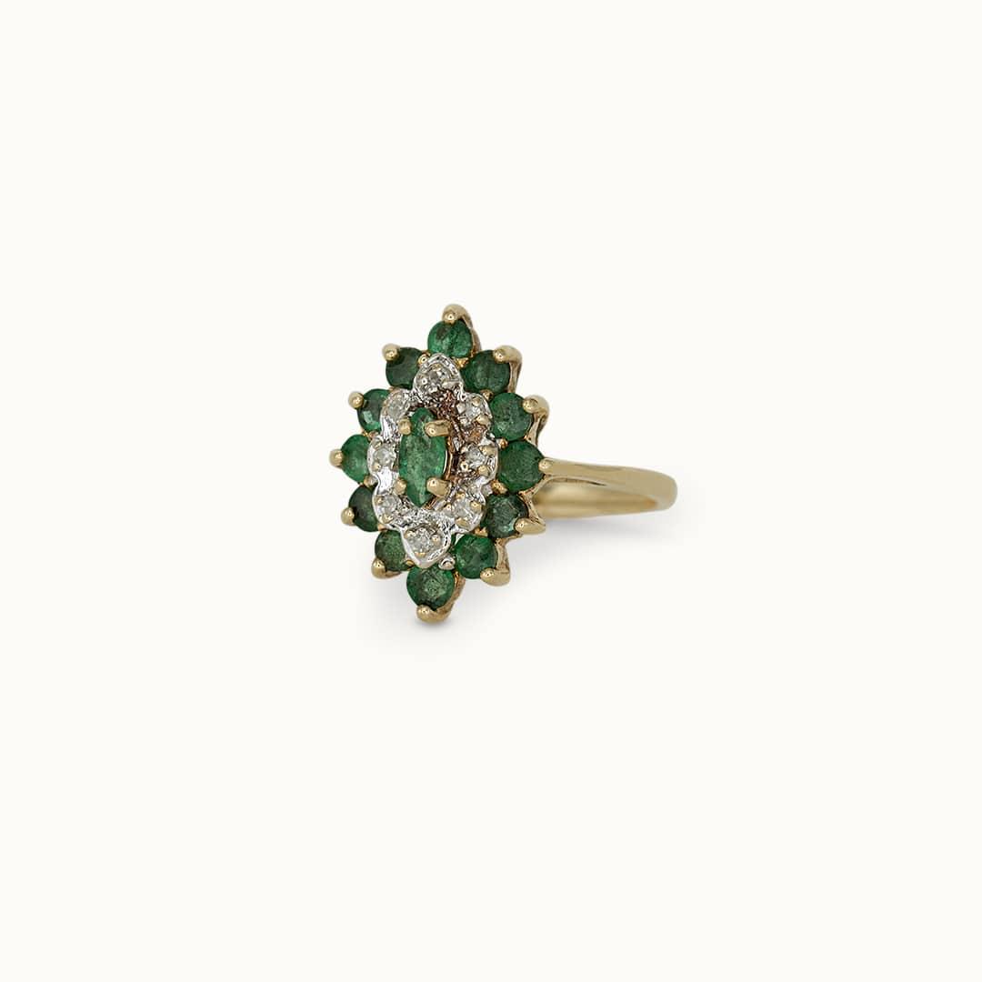 Julie | 14K Emerald & Diamond
