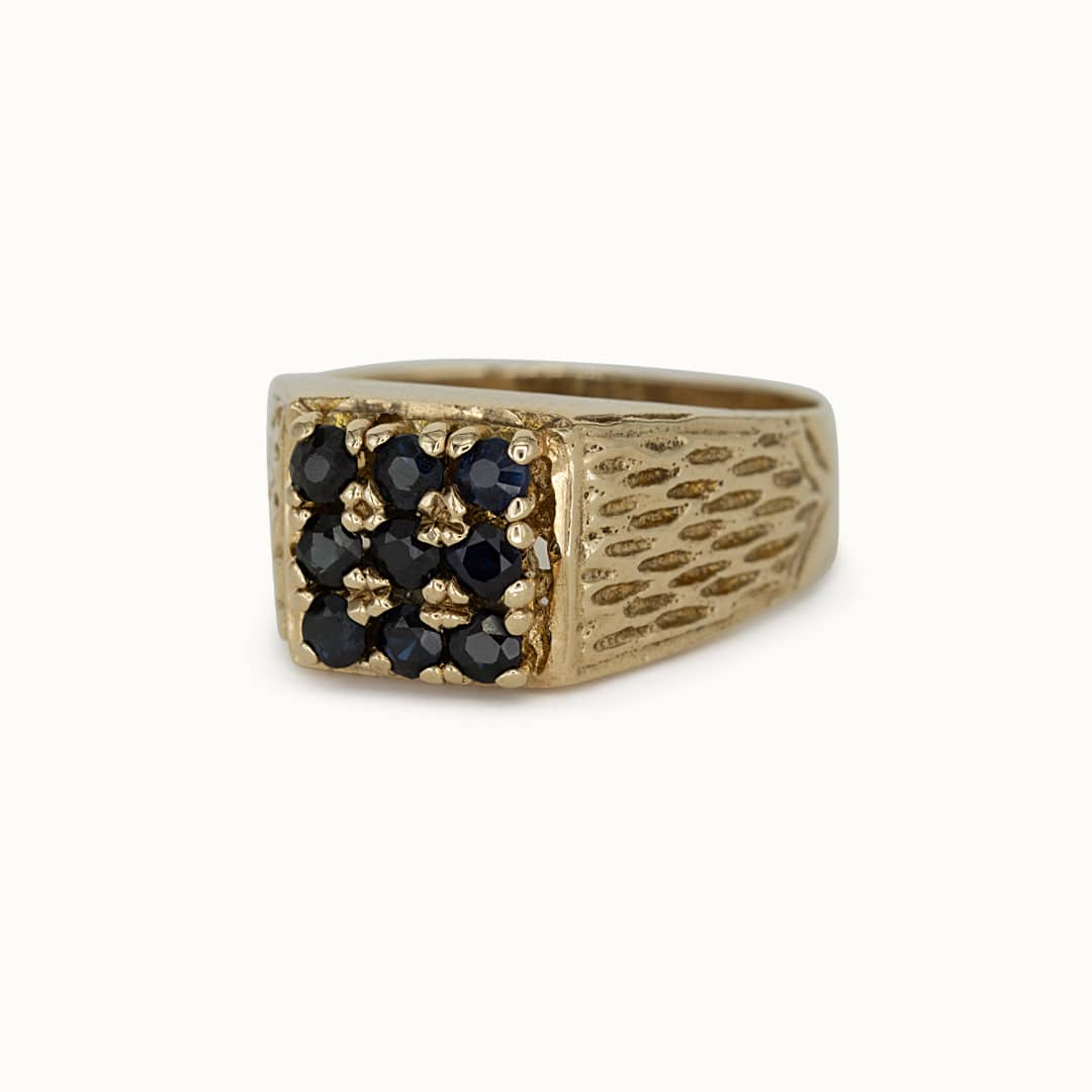 Charlie | 9K Sapphire Signet ring