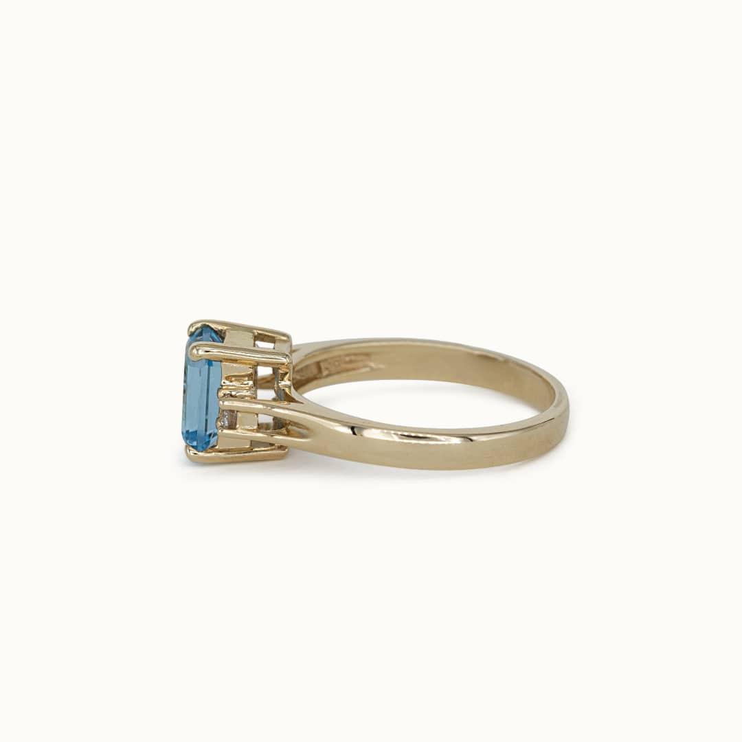 Tara | 14K Blue Topaz & Diamond