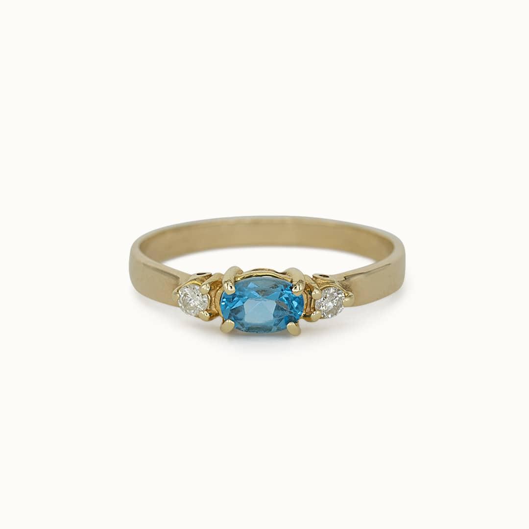 Lily | 14K Aquamarine & Diamond