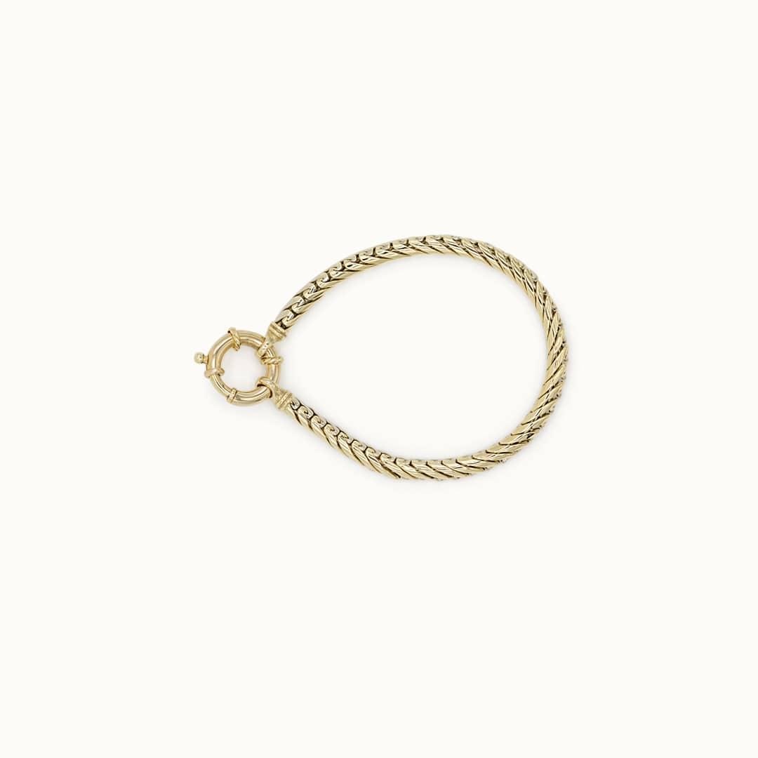 Yesna | 14K Wheat Link Bracelet