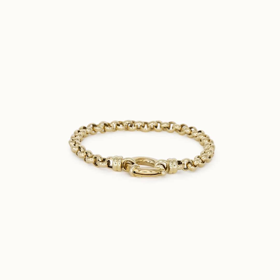 Stace | 14K Rolo Link Bracelet