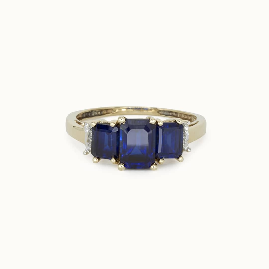 Sophia | 10K Sapphire & Diamond