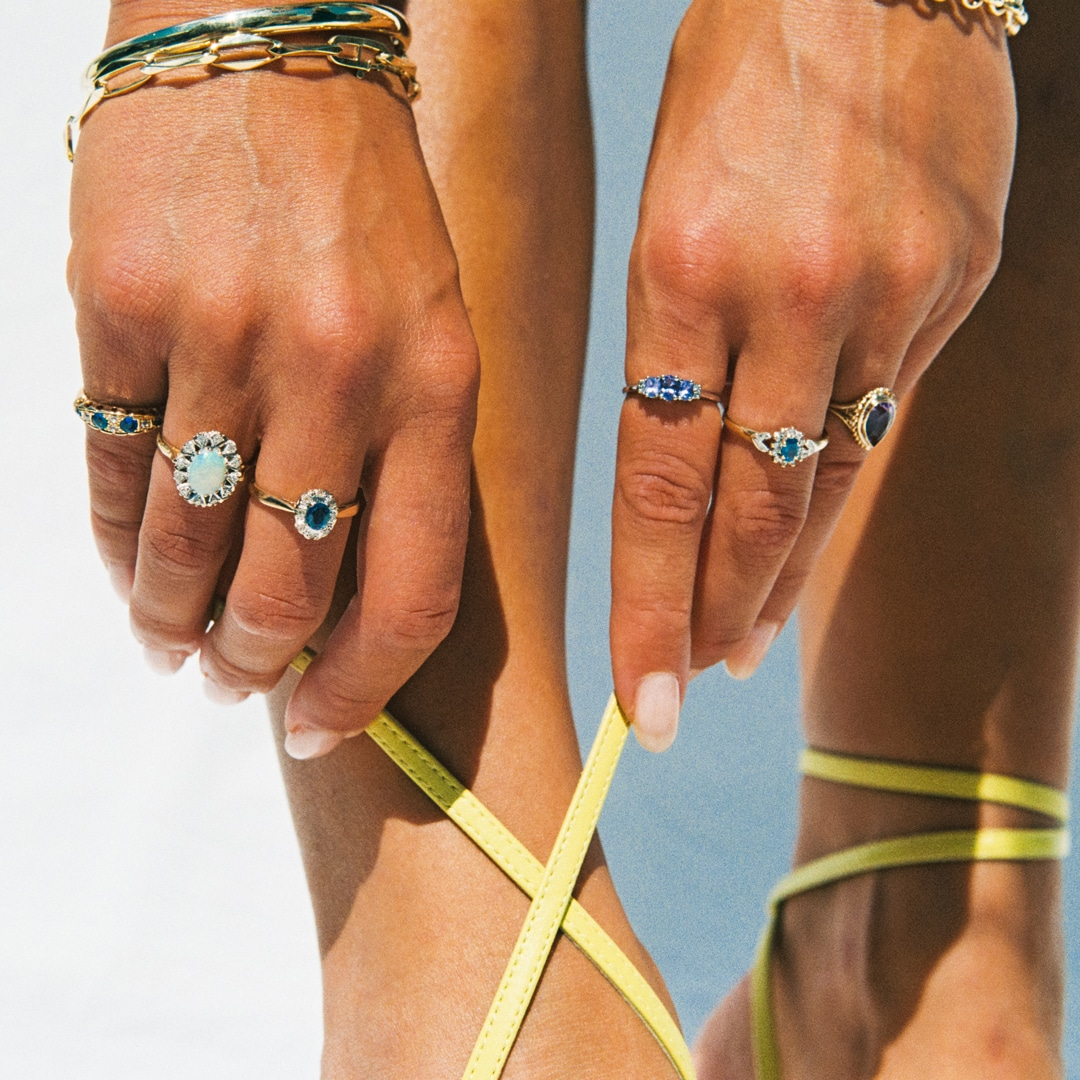 Liza | 10K Tanzanite& Diamond