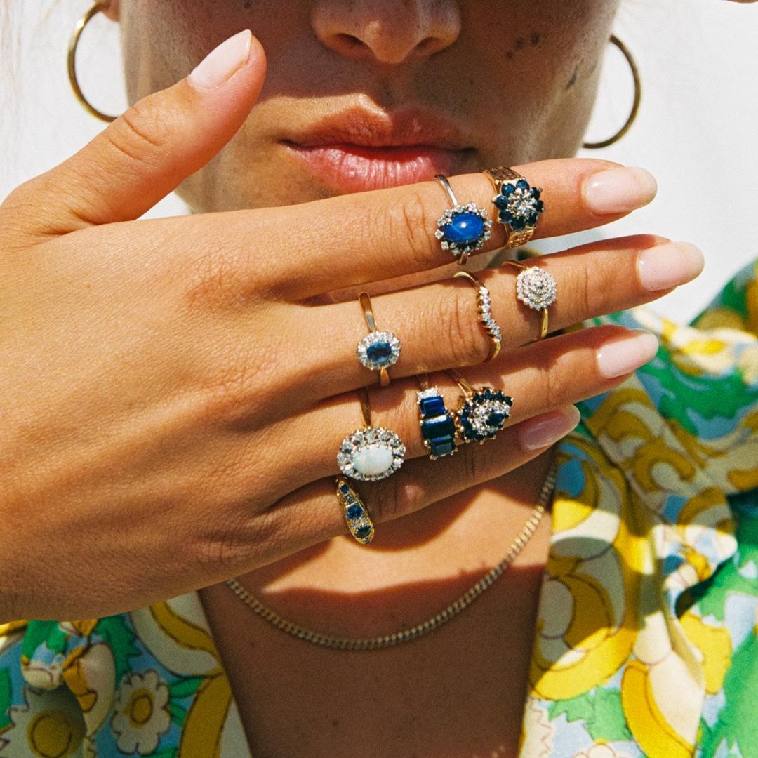 Ankla | 10K Sapphire & Diamond
