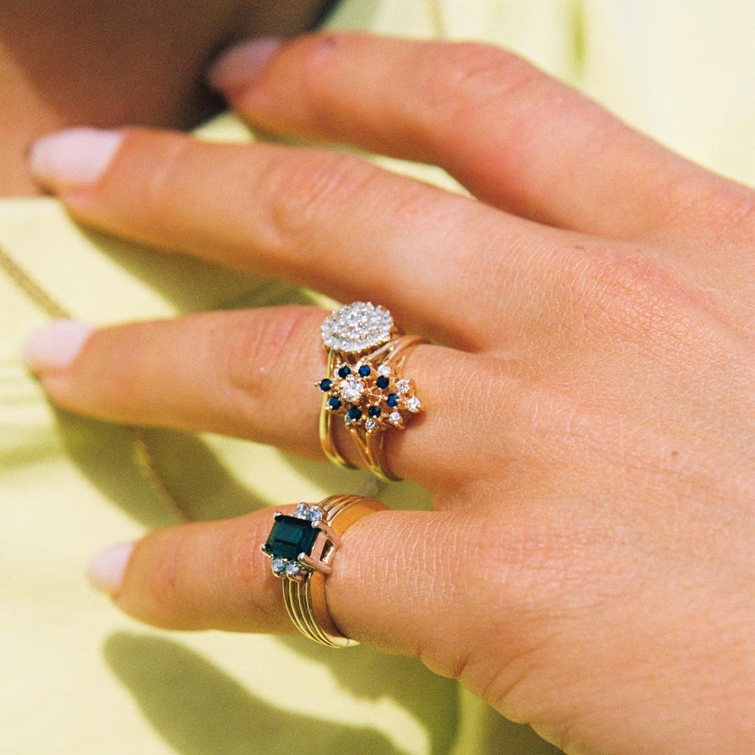 Cindy | 14K Sapphire & Diamond