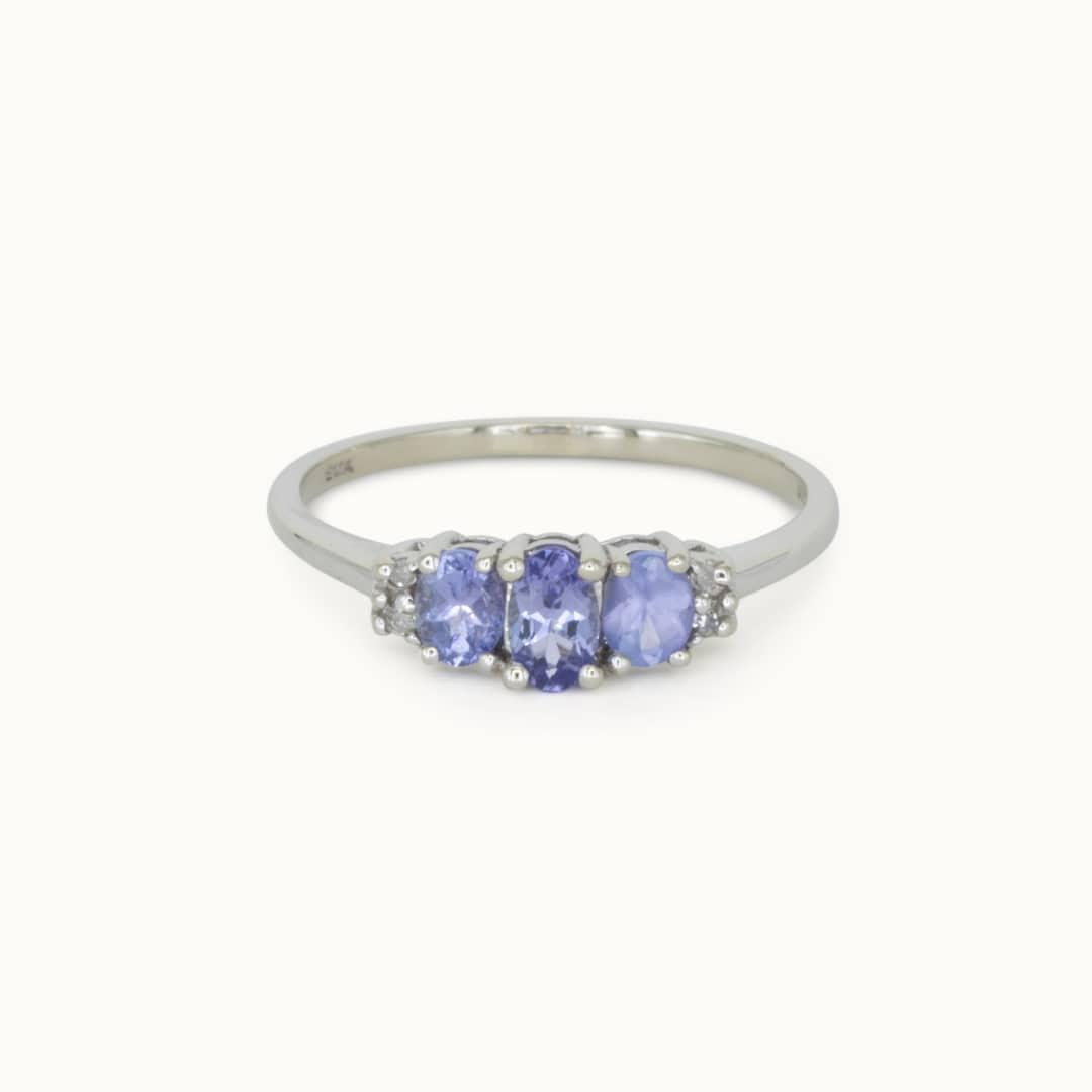 Liza   10K Tanzanite& Diamond