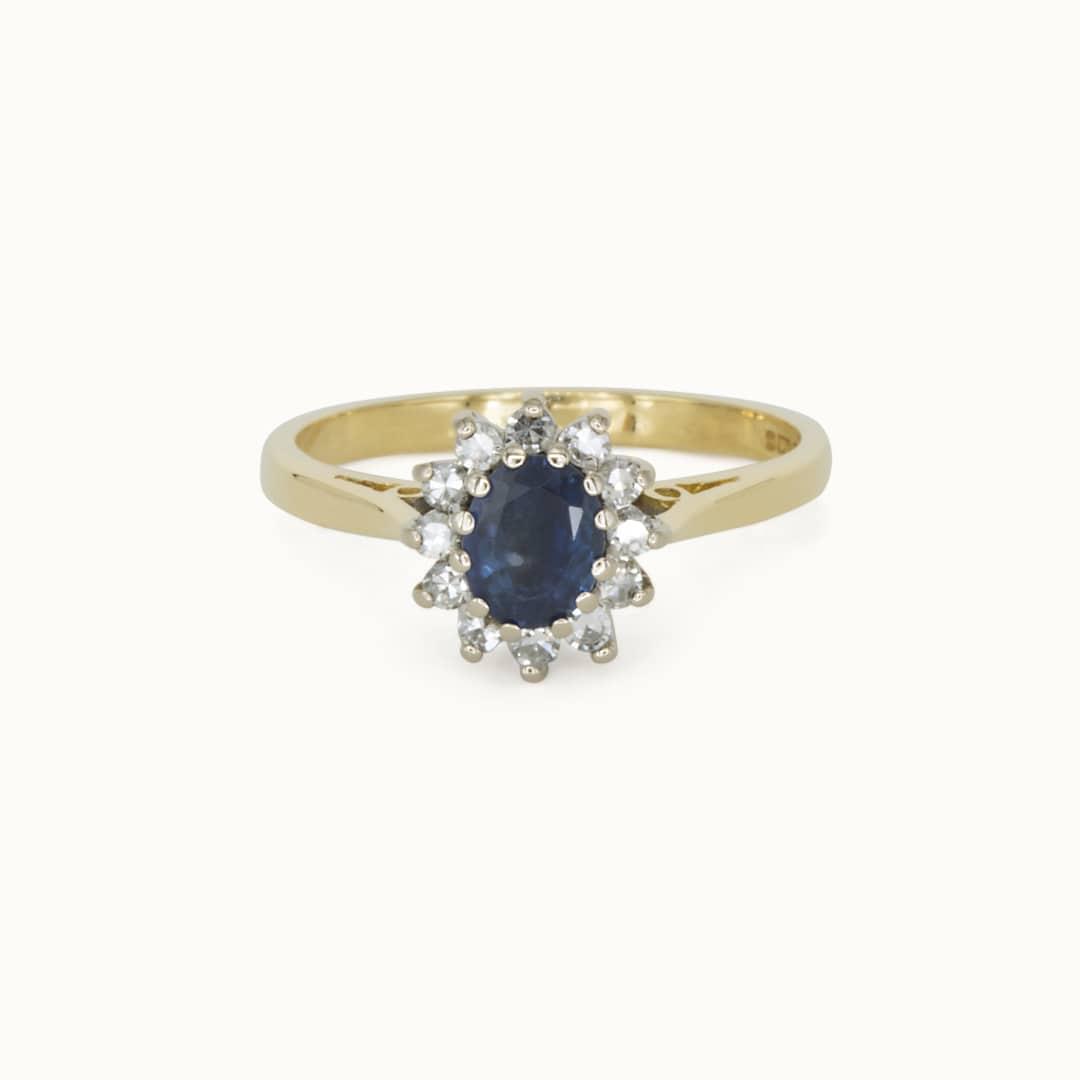 Audrey | 18K Sapphire & Diamond